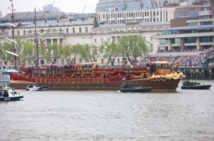Royal Barge at the Queen's Diamond Jubilee River Pageant
