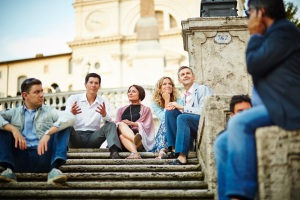Friends on the Spanish steps
