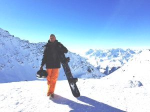 Snowboarding Verbier