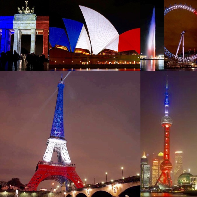 The world unites in support for France